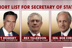 Is Tillerson the dark horse for state dept...