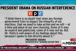 Obama: US needs to take action on Russia