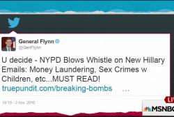 Flynn tries to sneak fake news tweet delete