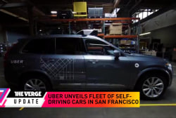 Uber reveals fleet of self-driving cards...