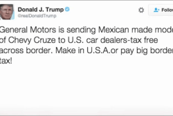 Trump takes aim at General Motors in tweet