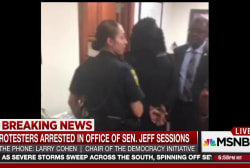 Protesters arrested in Sen. Sessions' office