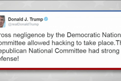 Trump continues to deny Russian role in hack