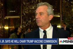 Trump takes meeting with 'vaccine skeptic'