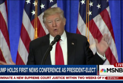 Trump packs news into first press...