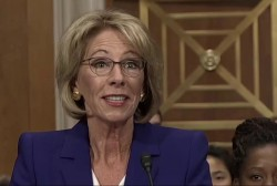 Democrats press Betsy DeVos for answers