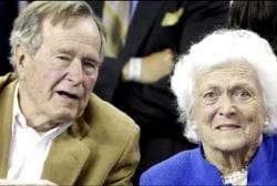 George H.W. Bush, Barbara Bush remain...