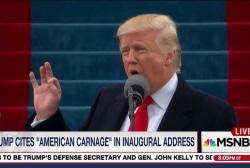 Trump vows end to 'American carnage'
