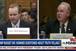 Trump nominee questioned by Democrats...