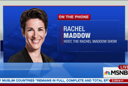 Maddow: Protest movement crucial to US policy