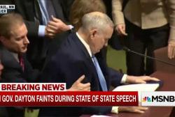 Minnesota Governor Dayton faints mid-speech