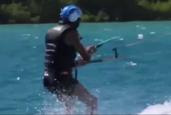 Obama shows off kiteboarding skills