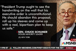 Schumer: Time for Trump to abandon travel ban