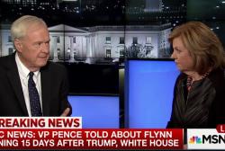 Trump knew for weeks that Flynn wasn't...