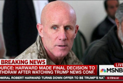 Trump presser convinced Harward to decline