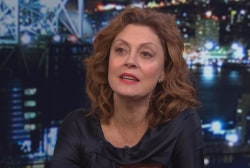 Does Sarandon still think Trump may bring...