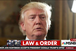 To Trump, law & order is really about order