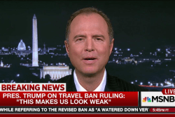 Rep. Schiff: Travel ban makes Trump look weak