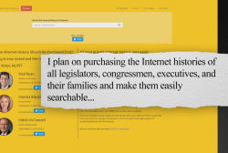 Campaign to purchase lawmakers' browsing...