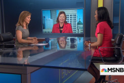 President Trump meets women small business...