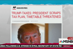 Trump gives up on tax overhaul plan