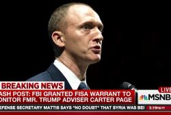 FBI granted FISA warrant to monitor Carter...