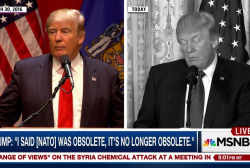Candidate Trump: NATO is obsolete, Pres....