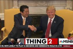 Trump's signature handshake: the 'yank &...