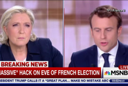 Massive hack in French election, as US...