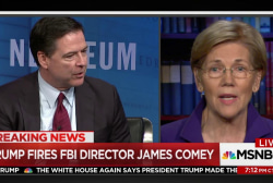 Warren: Comey was fired because of the...