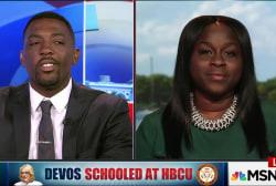 Devos Schooled at HBCU