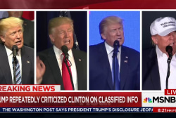 Candidate Trump bashed Clinton's handing...