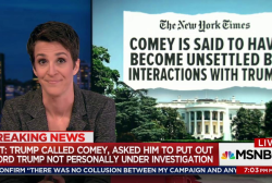 Comey recounted pressure from Trump: NYT