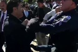 Turkish officials attack protesters in DC