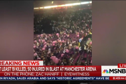 Witness recounts panic in Manchester Arena