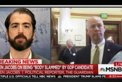 'Body slammed' reporter Ben Jacobs still...