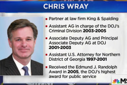 Who is Christopher Wray, Trump's FBI nominee?