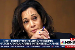 Sen. Kamala Harris reacts to scolding by...