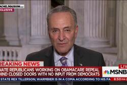 Schumer: GOP is ashamed of their health bill