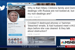 Trump attacks 'Crooked H' on Twitter 220...
