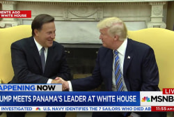 Trump meets Panama's President at White House