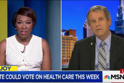 Sen. Sherrod Brown decries GOP healthcare...