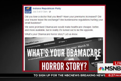 Indiana GOP call for Obamacare horror...