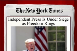 Press freedom under daily assault: NYT column