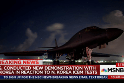 U.S. & South Korean militaries react to...