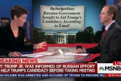 Schiff notes Trump Jr in Russia hack timeline