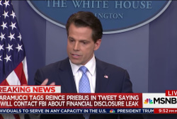 Report: Scaramucci wants FBI to...