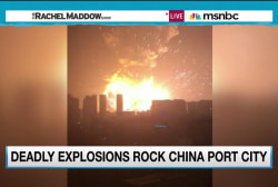 Massive explosion rocks Chinese city