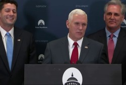 Obama, Pence on Hill as health care fights...