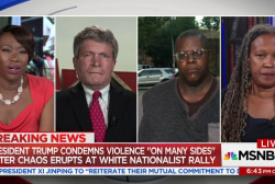 Chaos at white nationalist rally sparks...